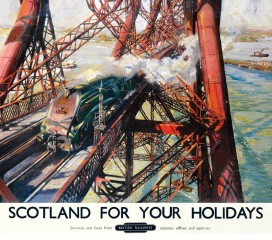 Forth Bridge, Scotland for Holidays Railway Poster