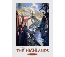 Monessie Gorge, The Highlands Railway Poster