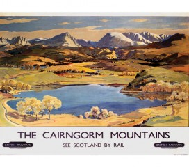 The Cairngorm Mountains Railway Poster