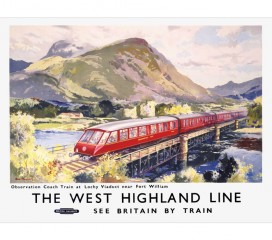 The West Highland Line Railway Poster