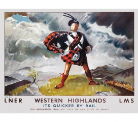 Rob Roy (1934) Western Highlands Railway Poster