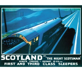 The Night Scotsman (1932) Railway Poster