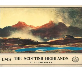 The Scottish Highlands (1923) Railway Poster