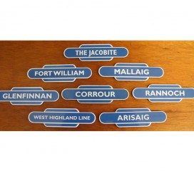 West Highland Line Station Totem Magnets