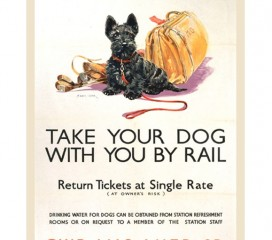 Take Your Dog By Rail (1935) Railway Poster