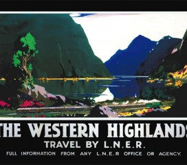 The Western Highlands (1935) Railway Poster