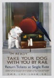 Take Your Dog by Rail 2 (1935) Railway Poster