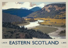 Eastern Highlands (1935) Railway Poster