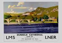 Dunkeld Cathedral, River Tay (1935) Railway Poster