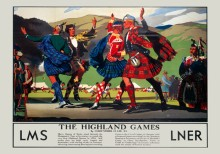 Highland Games (1935) Railway Poster