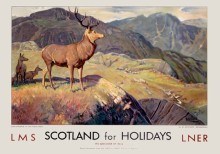 Stag - Scotland for Holidays (late 1930s) Railway Poster
