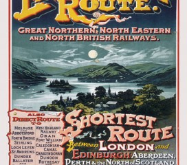 East Coast Route (1895) Railway Poster