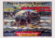 West Highland Section of NBR (1920) Railway Poster