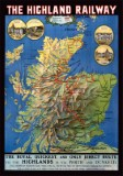 The Highland Railway Map (1905) Poster