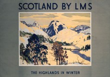 The Highlands in Winter (1924) Railway Poster
